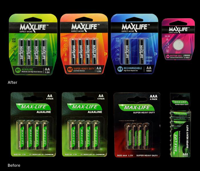 Maxlife Batteries Rebrand