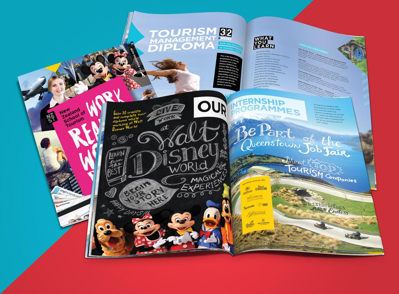 Brochure Design: New Zealand School of Tourism