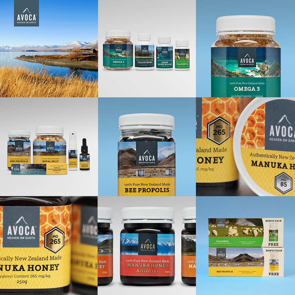 Avoca Health Brand and Packaging Design