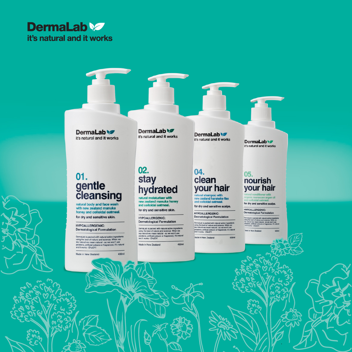 redfire-design-Dermalab-Product-Range-Green