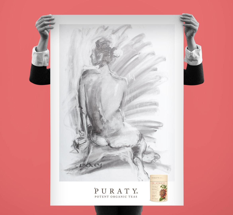 puraty organic tea branding redfiredesign