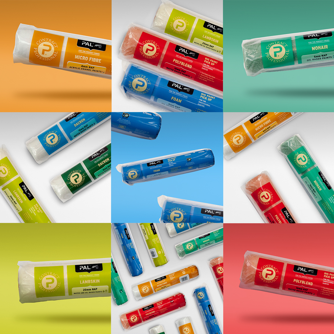 Paint Aids Limited Roller Sleeve Packaging Design