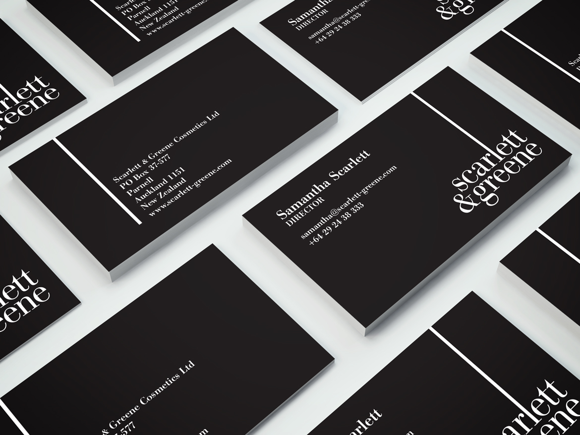REDFIRE_scarlett&greene-businesscard_photography_branding_packaging_digital_graphicdesign_advertising_brochure_designagency
