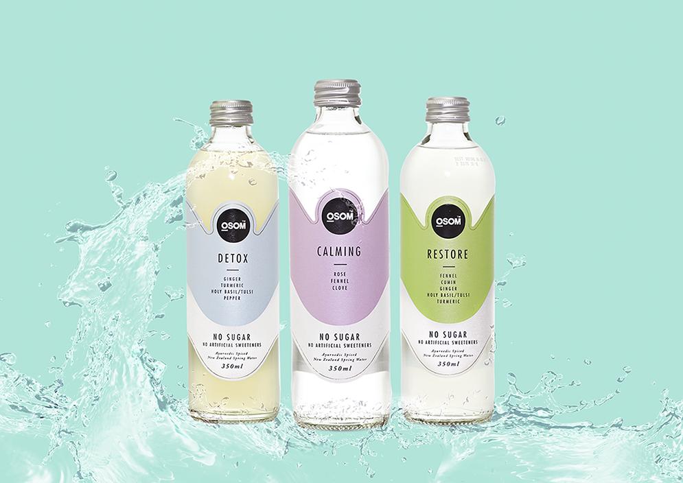 Beverage packaging design – Osom spiced water
