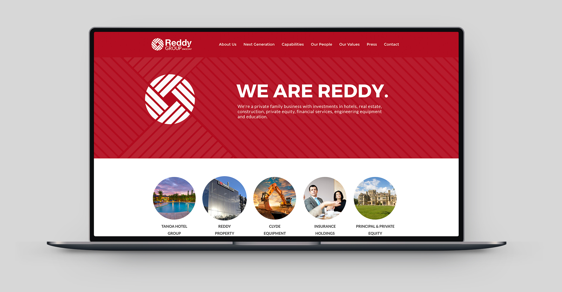 Reddy_group_website_design_digital_marketing_visual_communications_graphic_design_agency_redfire